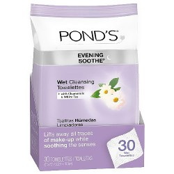 Ponds wet cleansing towelettes, evening soothe with chamomile and white tea, 30 ea