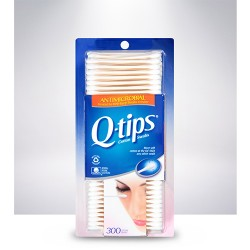 Q-tips antimicrobial cotton swabs - 3 ea
