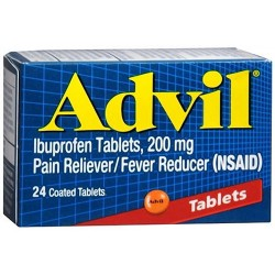 Advil pain reliever fever reducer coated tablets - 3 ea