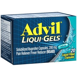 Advil pain reliever and fever reducer liquid filled capsules - 20 ea