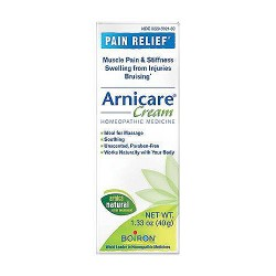 Boiron arnicare cream for pain relief, homeopathic medicine - 1.33 oz