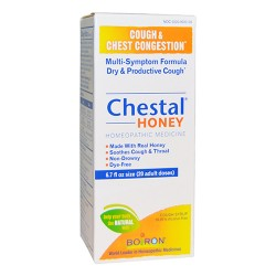 Boiron chestal honey cough and chest congestion syrup for adult, homeopathic  -  6.7 Oz