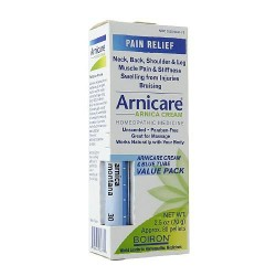 Boiron arnicare arnica cream for pain relief and blue tube value pack- 2.5 oz