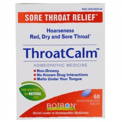 Boiron ThroatCalm quick dissolving tablets - 60 ea