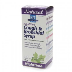 Natural Bolricke and tafel nighttime cough and bronchial syrup - 4 oz