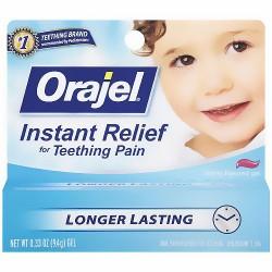Baby Orajel Teething Pain Medicine for Fast Teething Pain Relief, Regular - 0.33 Oz