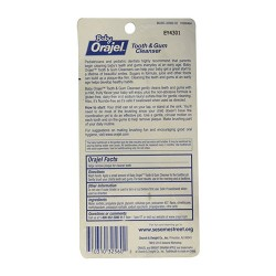 Orajel baby tooth/gum cleanser, apple banana - 6 ea