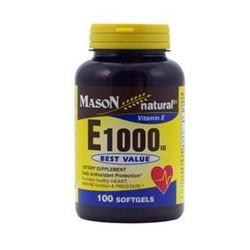 Mason natural vitamin E1000 Iu best value softgels - 100 ea
