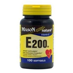 Mason Natural Vitamin E 200Iu Dl-Alpha Softgels - 100 Ea
