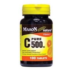 Mason natural pure C 500mg Vitamin C dietary supplement - 100 ea