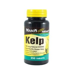 Mason Natural Kelp 150 Mcg Natural Iodine Tablets - 250 Ea