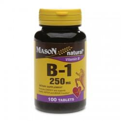 Mason Naturals Vitamin B-1 250 Mg Tablets - 100 Ea
