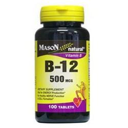 Mason naturals vitamin B12 500 mcg tablets - 100 ea