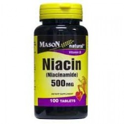 Mason Natural Niacin (Niacinamide) 500 Mg Vitamin B Tablets - 100 Ea