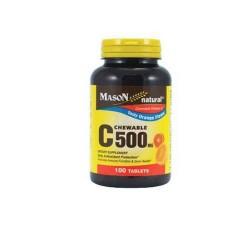 Mason Natural Vitamin C 500Mg Chewable Tablets, Orange - 100 Ea