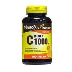 Mason natural vitamin C 1000 mg pure ascorbic acid tablets - 100 ea