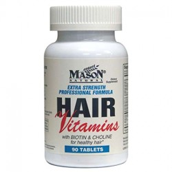 Mason Natural Extra Strength Hair Vitamin Tablets, Professional Formula - 90 Ea