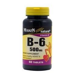 Mason Naturals Vitamin B-6 500 Mg Tablets - 60 Ea