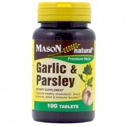 Mason Natural Garlic And Parsley Dietary Supplement Tablets - 100 Ea