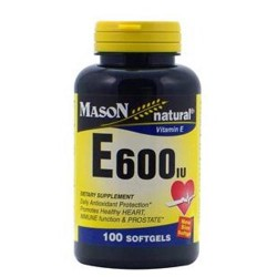 Mason Natural Vitamin E 600 Iu Dietary Supplement Softgels - 100 Ea