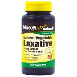 Mason Natural, Natural Vegetable Laxative Tablets - 90 Ea