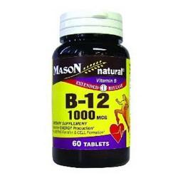 Mason Naturals Vitamin B-12 Extended Release 1000 mcg Tablets - 60 ea