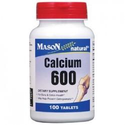 Mason Natural Calcium 600Mg Supplement Tablets - 100 Ea