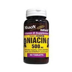 Mason Natural Niacin 500 Mg Time Release Tablets - 60 Ea