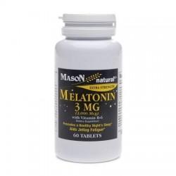 Mason natural melatonin 3 mg with Vitamin B6 capsules - 60 ea