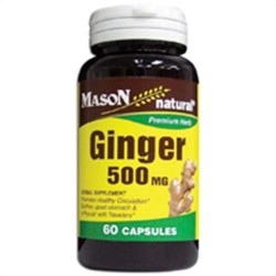 Mason Natural Ginger 500 Mg Premium Herbal Supplement Capsules - 60 Ea