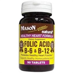 Mason Natural Folic Acid B-6 And B-12 Tablets - 90 Ea