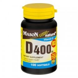 Mason natural vitamin D400 Iu softgels for bone and joint health - 100 ea