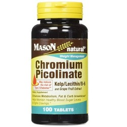 Mason Natural Chromium Picolinate With Kelp Tablets - 100 Ea