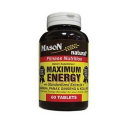 Mason Natural Maximum Energy With Standardized Extracts - 60 Tablets