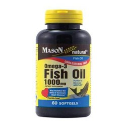 Mason Natural Omega-3 Fish Oil 1000 mg Softgels - 60 Ea