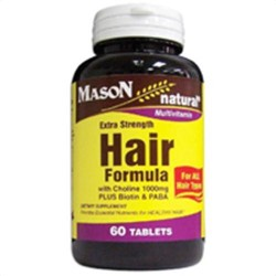 Mason Natural Hair Formula Multivitamin Tablets, Extra Strength, 60 Ea