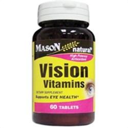 Mason Natural Vision Vitamins High Potency Antioxidant - 60 Tablets