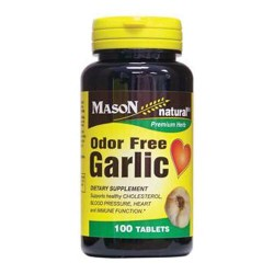 Mason Natural Garlic Odor Free Tablets - 100 Ea