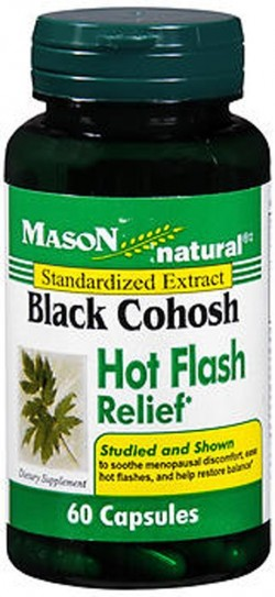 Mason Natural Black Cohosh 40 Mg Hot Flash Relief Capsules - 60 Ea