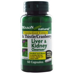 Mason Natural Milk Thistle And Cranberry, Liver And Kidney Cleanser - 60 Capsules