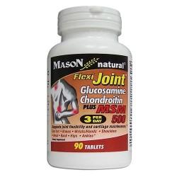 Mason Natural Flexi Joint Glucosamine Chondroitin and MSM 500 Tablets - 90 Ea