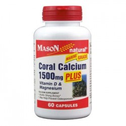 Coral Calcium 1500 Mg Capsules For Bone Strength, By Mason Vitamins - 60 Ea