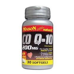 Mason natural co Q-10 200 mg softgels - 30 ea
