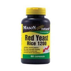 Mason Natural Red Yeast Rice 1200 Premium Herb Capsules - 60 Ea