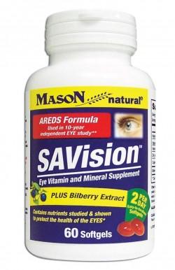 Mason Natural Savision With Bilberry Extract Softgels - 60 Ea