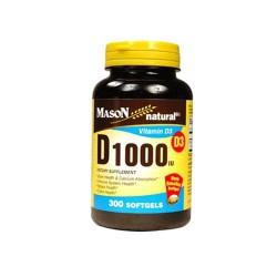 Mason Natural Vitamin D 1000 Iu Dietary Supplement Softgels, #1477 - 300 Ea