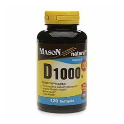 Mason natural vitamin D 1000Iu softgels - 120 ea