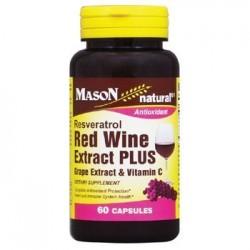 Mason Natural Resveratrol Red Wine Extract Plus Antioxidant Capsules - 60 Ea