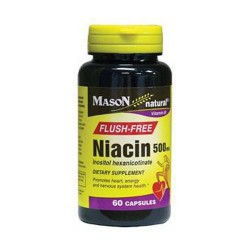 Mason Natural Niacin 500 Mg Inositol Hexanicotinate Flush Free Capsules - 60 Ea
