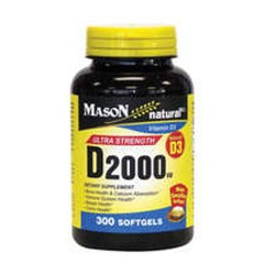 Mason Natural Vitamin D 2000Iu Dietary Supplement Softgels - 300 Ea